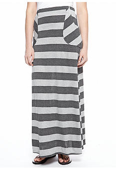 Living Doll Stripe Maxi Skirt with Pork Chop Pockets