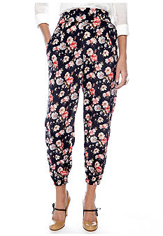 Living Doll Soft Woven Floral Pant
