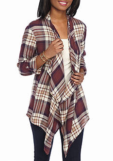 Living Doll Roll Tab Plaid Updated Jacket