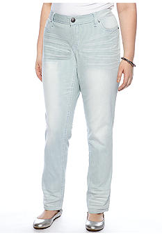 Zana-Di Jeans Plus Size Stripe Skinny Denim