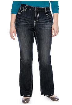Zana-Di Jeans Plus Size Heavy Stitch Boot Cut Denim