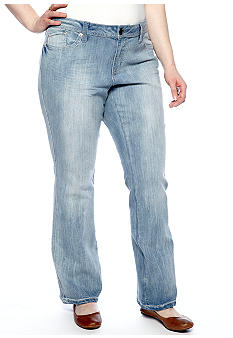 Zana-Di Jeans Plus Size Light Wash Studded Pocket Jean