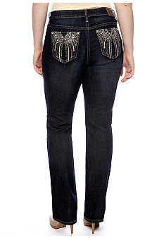 Zana-Di Jeans Plus Size Bling Bootcut Denim