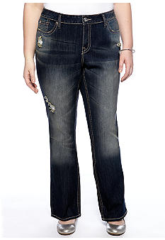 Zana-Di Jeans Plus Size Rips and Tears Denim