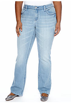 Zana-Di Jeans Plus Size Bejeweled Pocket Light Wash Jeans