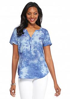Kim Rogers Tie Dye Raglan Sleeve Top