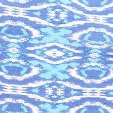Petite Blouses: Blue King Kim Rogers Petite Printed Woven Top
