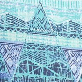 Petite Blouses: Blue King/Rural Kim Rogers Petite Printed Woven Top