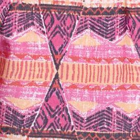 Petite Blouses: Fuchsia/Orange Kim Rogers Petite Printed Woven Top