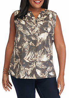 Kim Rogers Plus Size Sleeveless Liano
