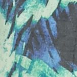Plus Size Basic Tops: Blue Combo Kim Rogers Plus Size Sleeveless Liano