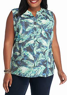 Kim Rogers Plus Size Sleeveless Liano