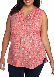 Kim Rogers Plus Size Sleeveless Liano Top
