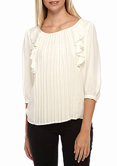 Jack by BB Dakota Marchesa Pleat Front Blouse