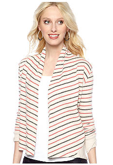 Jack by BB Dakota Stripe French Terry Cardigan