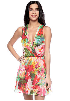 Jack by BB Dakota Floral Print Surplice Dress