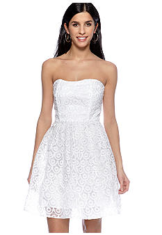 Jack by BB Dakota Embellished Organza Strapless Dress
