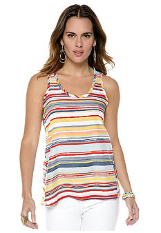Jack by BB Dakota Irregular Stripe Tank