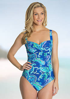 Beach Diva Island Paisley One Piece