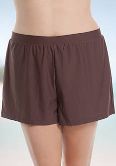 Beach Diva Plus Size Solid Shorts
