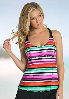 Beach Diva Cuban Stripe Tankini