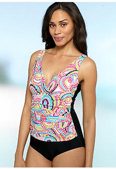 Beach Diva Mosaic Shirred One Piece
