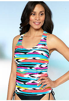 Beach Diva Jungle Racer Back Tankini