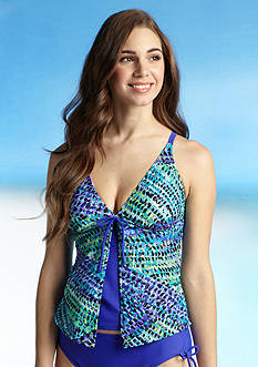 Beach Diva Bright Sparks Fly-Away Tankini