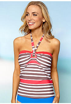 Island Waves Atlantic Stripe Bandokini