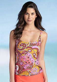 Island Waves Good Vibes Add-a-Bra-Size Tankini