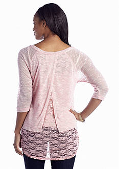 Red Camel® Lace 2Fer Top