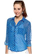 Red Camel® Roll Sleeve Polka Dot Shirt