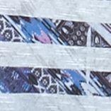 Women's T-shirts: Plum Lines New Directions Aztec Stripe Shark-bite Top