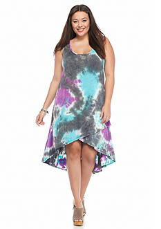 New Directions Weekend Plus Size Tie-Dye Dress
