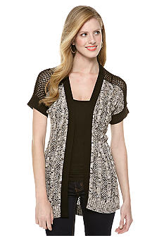 New Directions Cable Front Cardigan