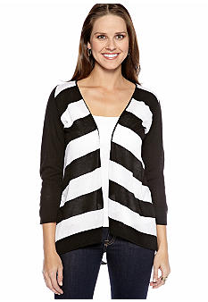 New Directions Bold Stripe Cardigan