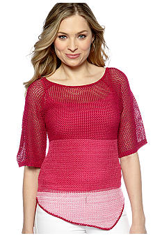 New Directions Ombre Mesh Sweater