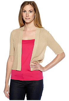 New Directions Elbow Sleeve Cable Knit Cardigan