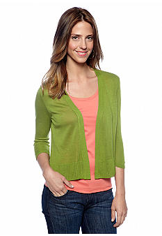 New Directions Ruffle Hem Shrug