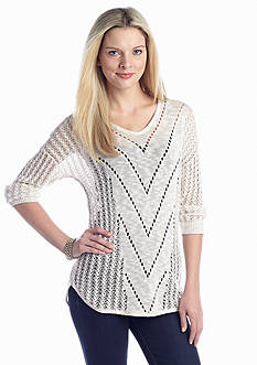 New Directions® Pointelle Sweater