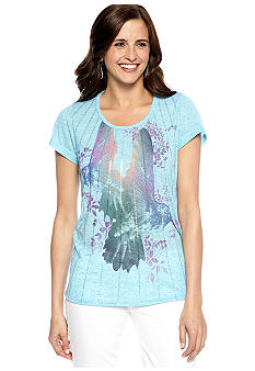 New Directions Weekend High Low Humming Bird Tee