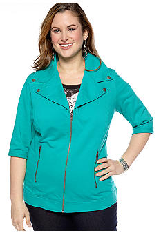 New Directions Weekend Plus Size Knit Jacket