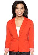 Kim Rogers® Petite One Button Casual Blazer with Rolled Sleeves