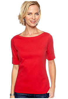 Kim Rogers® Petite Boat Neck Knit Top