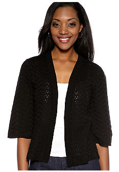 Kim Rogers Knit-In Rib Cardigan