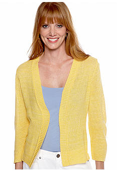 Kim Rogers® Three Quarter Sleeve Open Cardigan