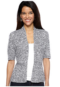 Kim Rogers Elbow Sleeve Shawl Neck Cardigan