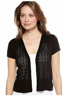 Kim Rogers Mix Stitch Short Sleeve Shrug