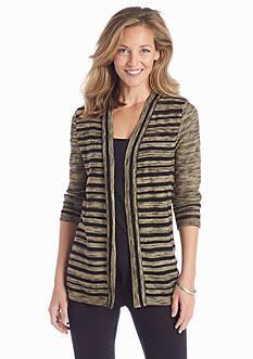 Kim Rogers® Stripe Spacedye Cardigan