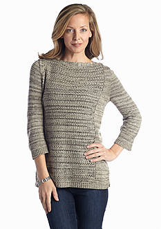 Kim Rogers® Crochet Knit Sweater